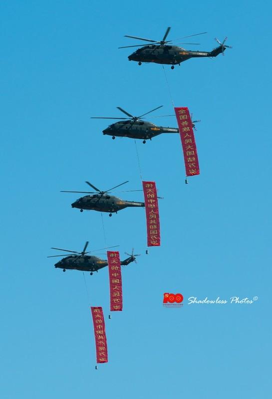 Dan may bay Trung Quoc chuan bi cho le duyet binh tren khong