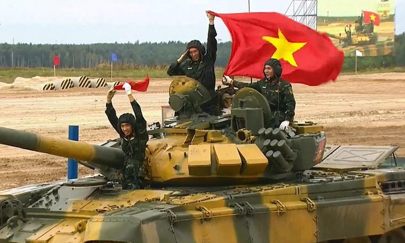 The le cuoc thi Xe tang hanh tien - Tank Biathlon tai Army Games 2021