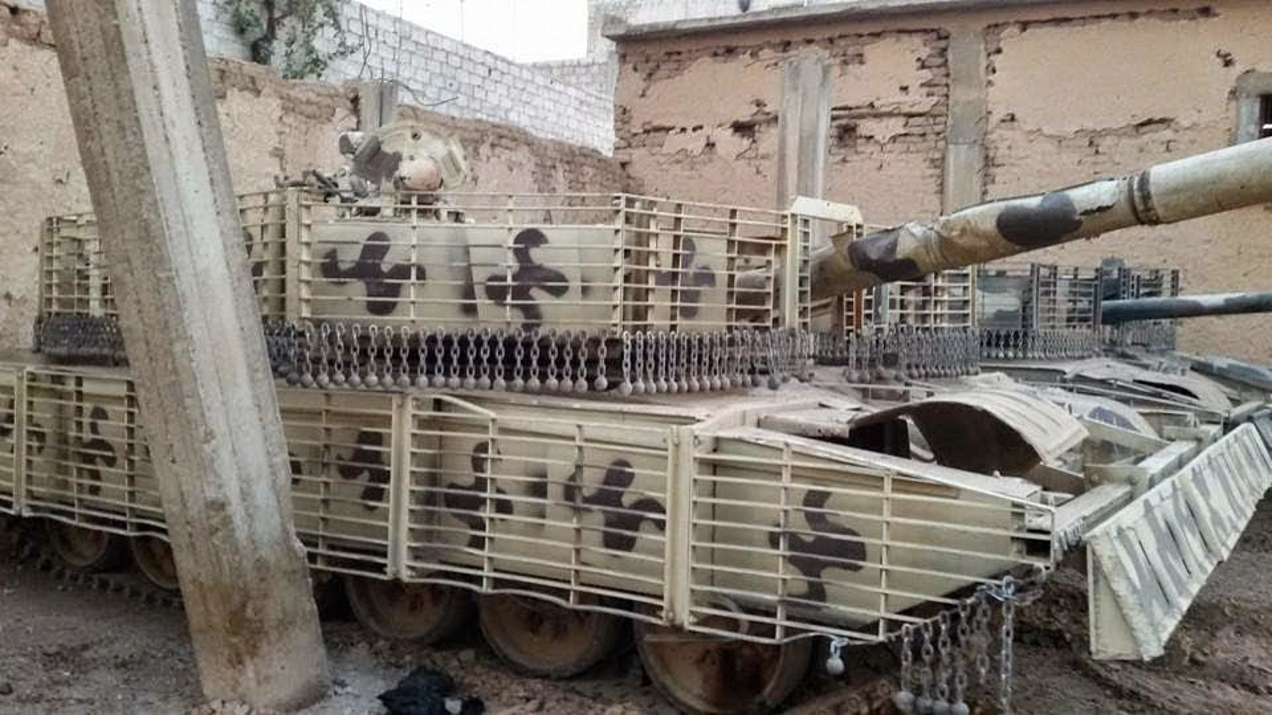 'Mai che' tren T-72B3 Nga vo tac dung truoc ten lua Javelin Ukraine-Hinh-14