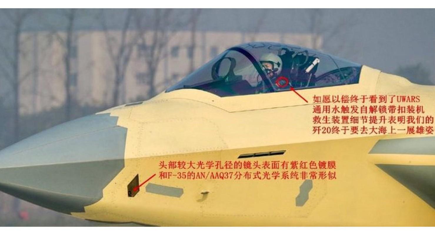 Bao My vach tran tiem kich J-20 sao chep cong nghe F-22