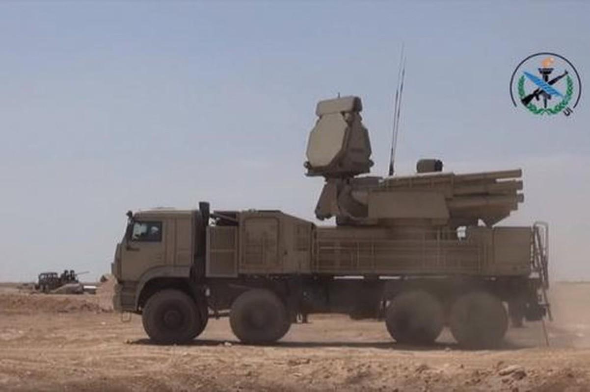 Phong khong Pantsir-S1 Syria phong 9 phat dan chi de ha mot ten lua Israel-Hinh-7