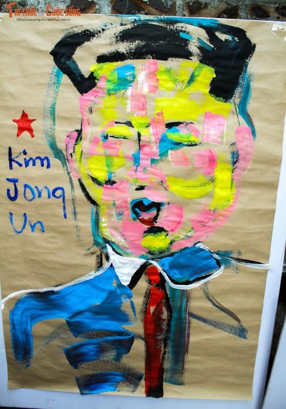 """Bo anh """"Donald Trump - Kim Jong Un"""" Thuong dinh My Trieu doc nhat cua hoa si Viet-Hinh-8"""