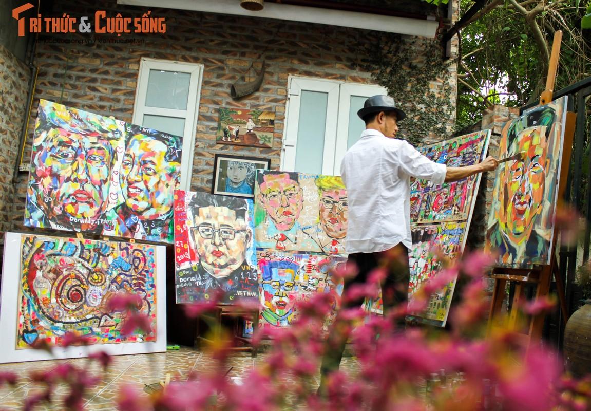 """Bo anh """"Donald Trump - Kim Jong Un"""" Thuong dinh My Trieu doc nhat cua hoa si Viet"""