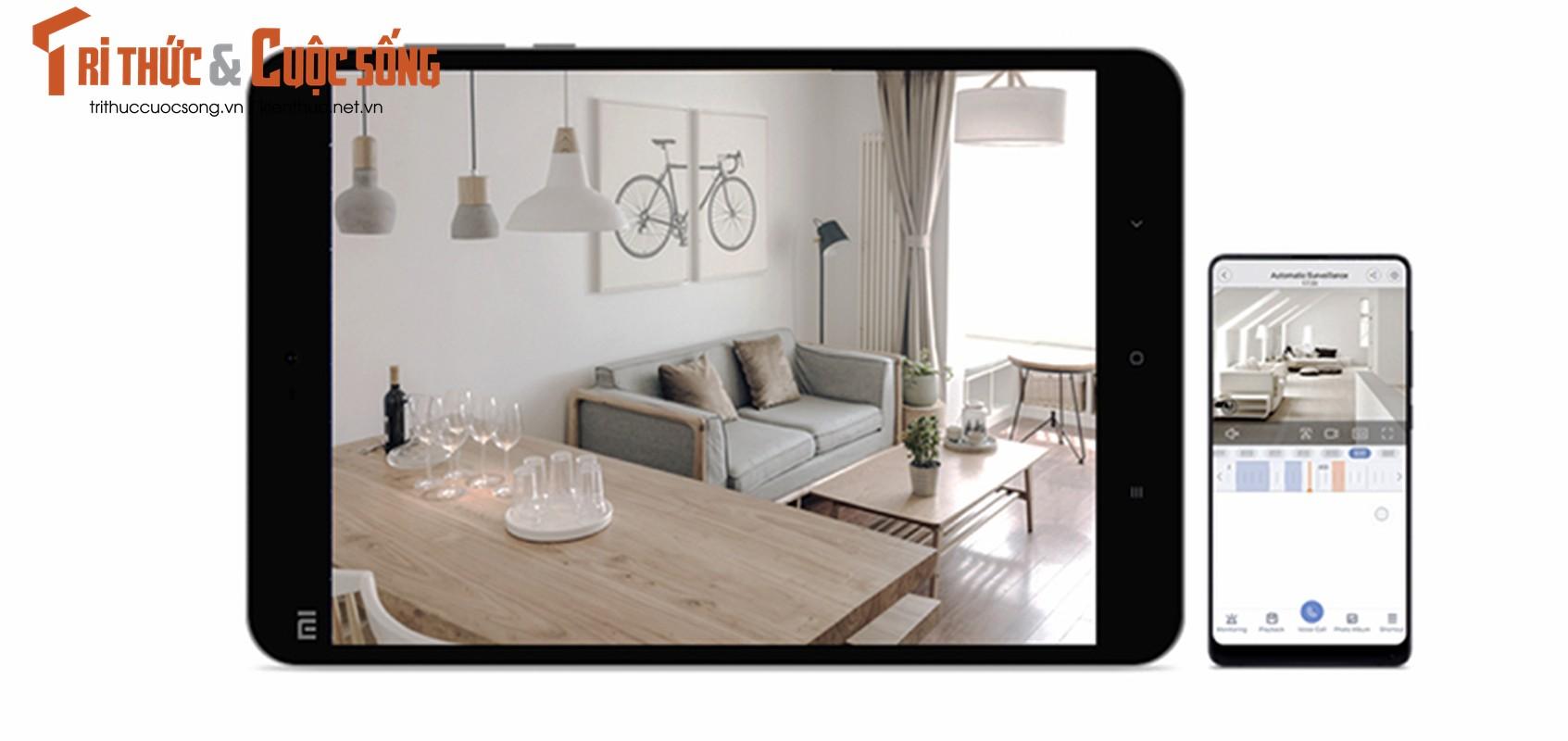 Chi tiet camera chong trom Xiaomi chat luong 2K xoay 360 do-Hinh-7