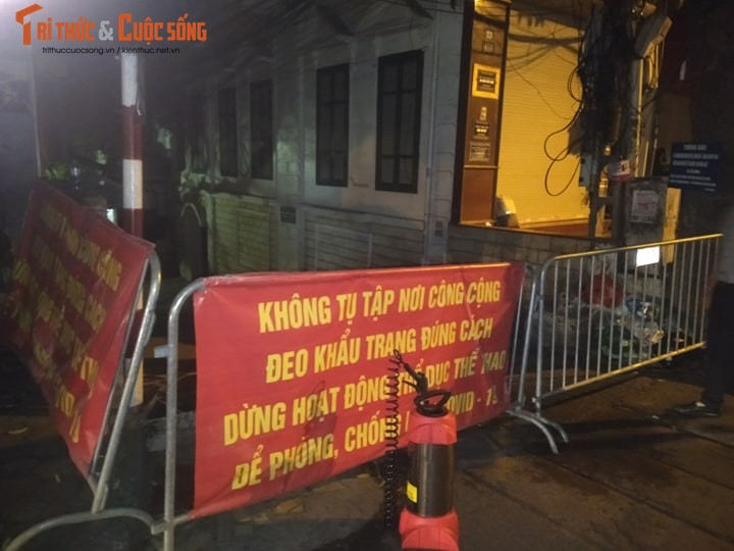 Ha Noi: Phong toa 2 ngo duong Hoang Hoa Tham co nguoi nghi nhiem COVID -19