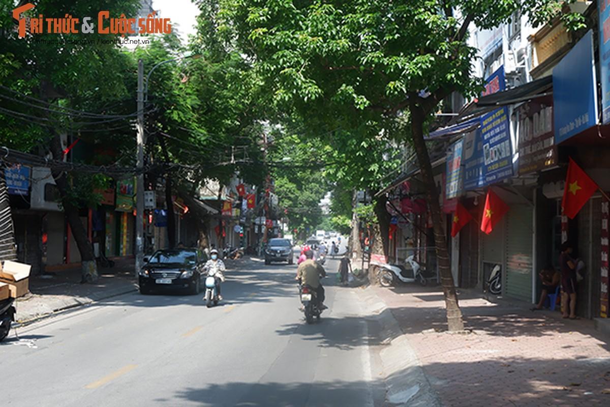 Pho phuong Ha Noi ruc ro co hoa chao mung Quoc khanh 2/9-Hinh-4