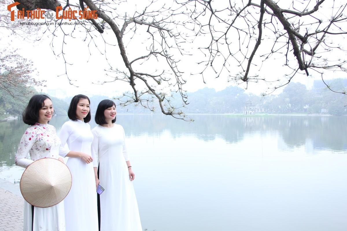Quoc te Phu nu 8/3: Net dep nu can bo, nhan vien VUSTA trong ta ao dai-Hinh-3