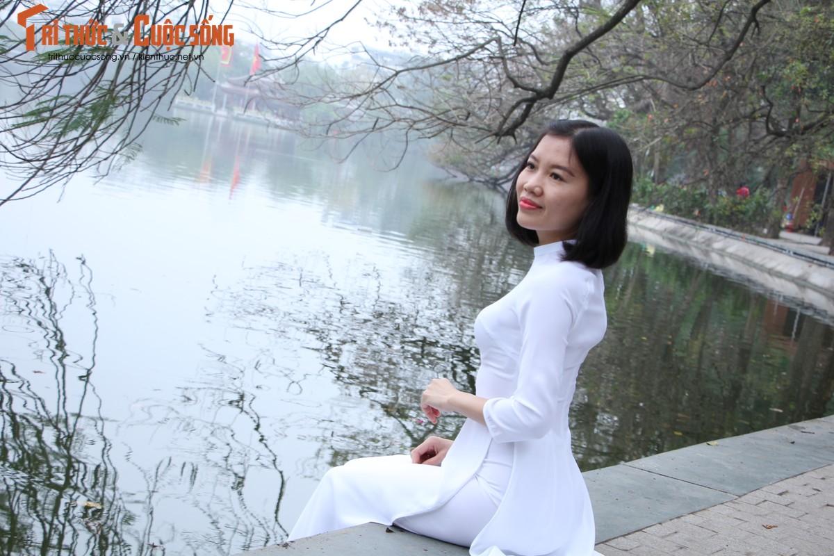 Quoc te Phu nu 8/3: Net dep nu can bo, nhan vien VUSTA trong ta ao dai-Hinh-4