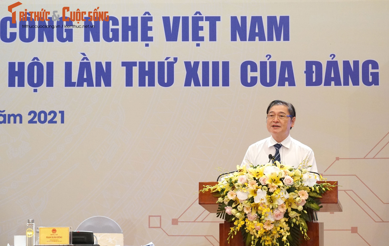 "Toan canh Hoi nghi toan quoc ""Doi ngu tri thuc KH&CN Viet Nam trien khai thuc hien Nghi quyet Dai hoi lan thu XIII cua Dang""-Hinh-18"