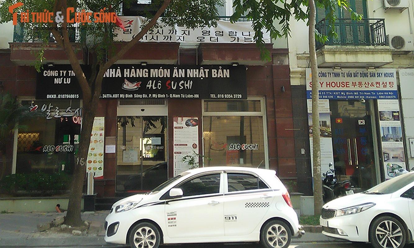 Bien hieu tieng Trung Quoc, Han Quoc nhan nhan tren pho Ha Noi-Hinh-12