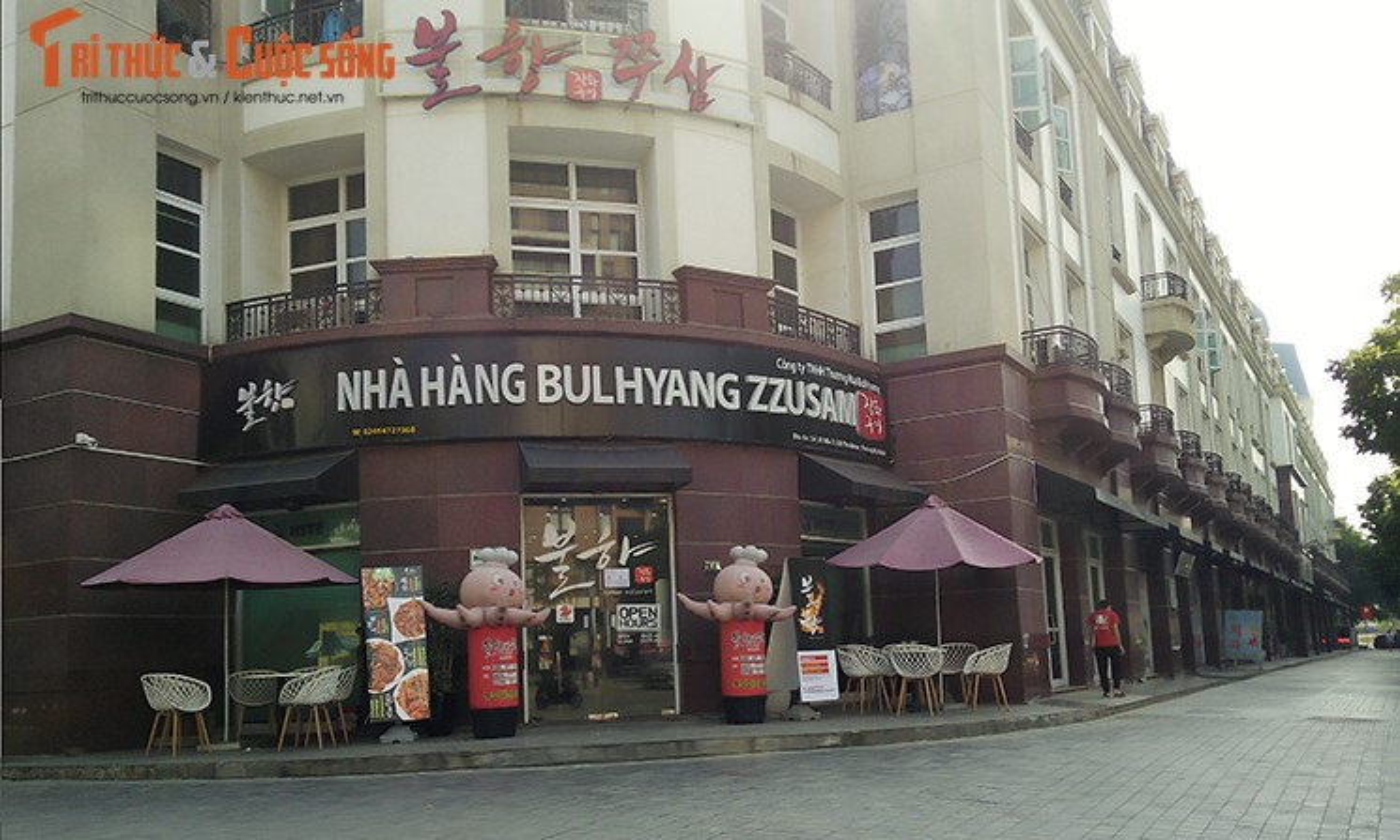 Bien hieu tieng Trung Quoc, Han Quoc nhan nhan tren pho Ha Noi-Hinh-7