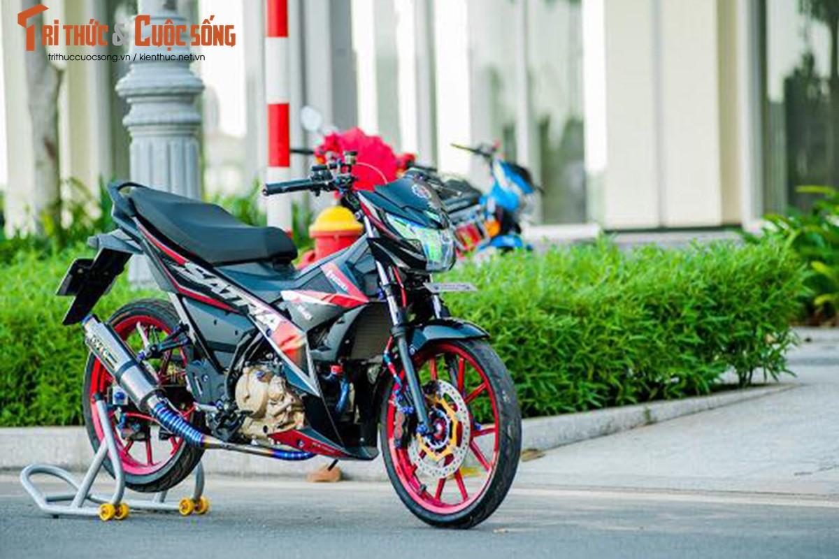 """Dan choi Viet chi hon 200 trieu do """"xe no"""" Suzuki Satria"""