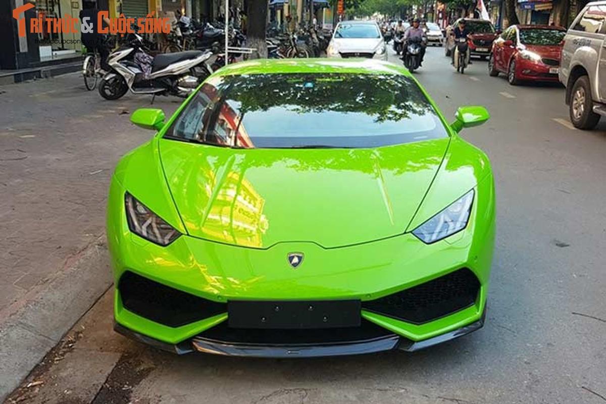 Dan choi Hai Phong tau sieu xe Lamborghini Huracan 16 ty