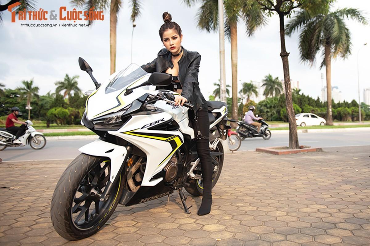 DJ Mi-A ho bao ben Honda CBR500R gia 187 trieu dong-Hinh-12