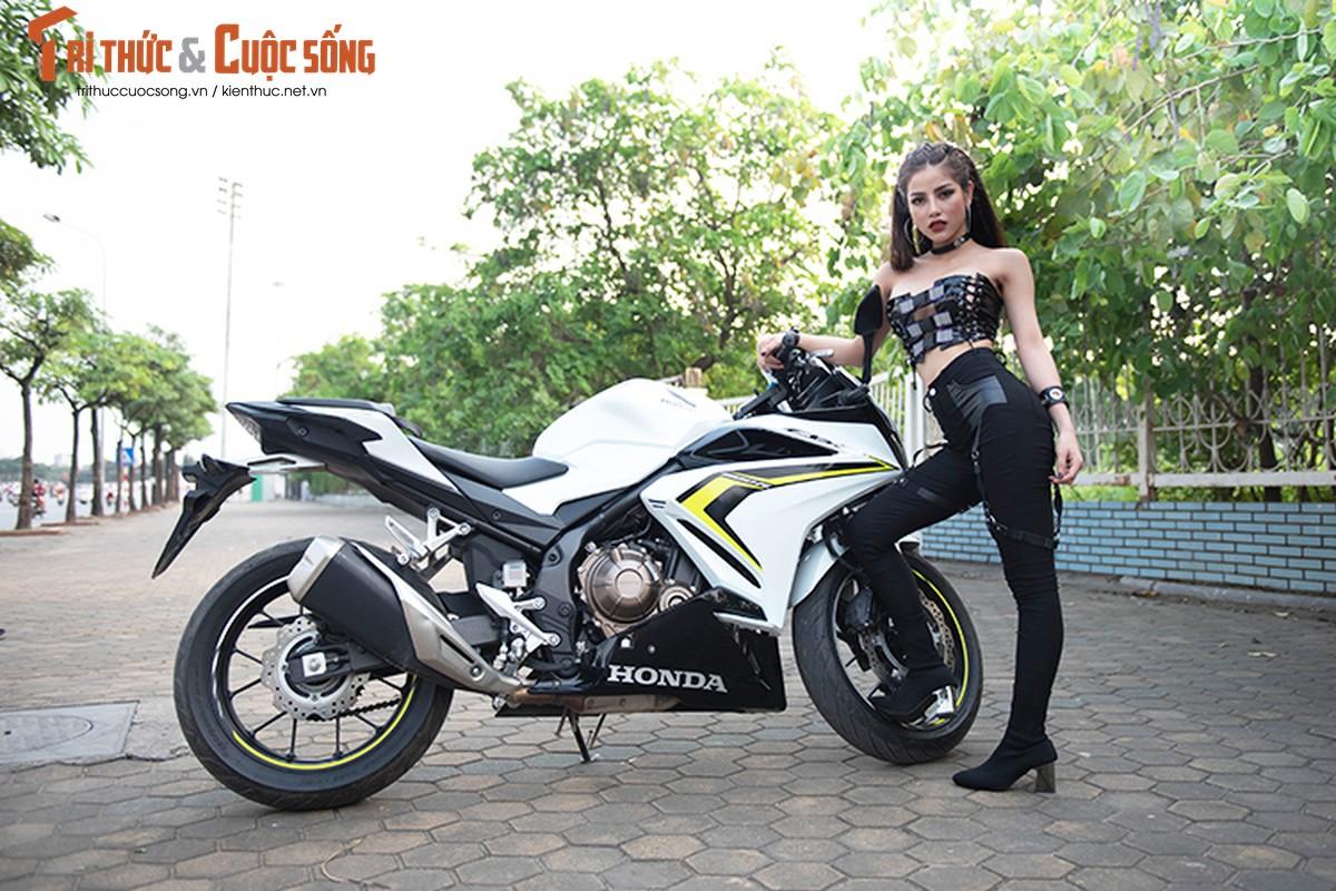 DJ Mi-A ho bao ben Honda CBR500R gia 187 trieu dong-Hinh-2