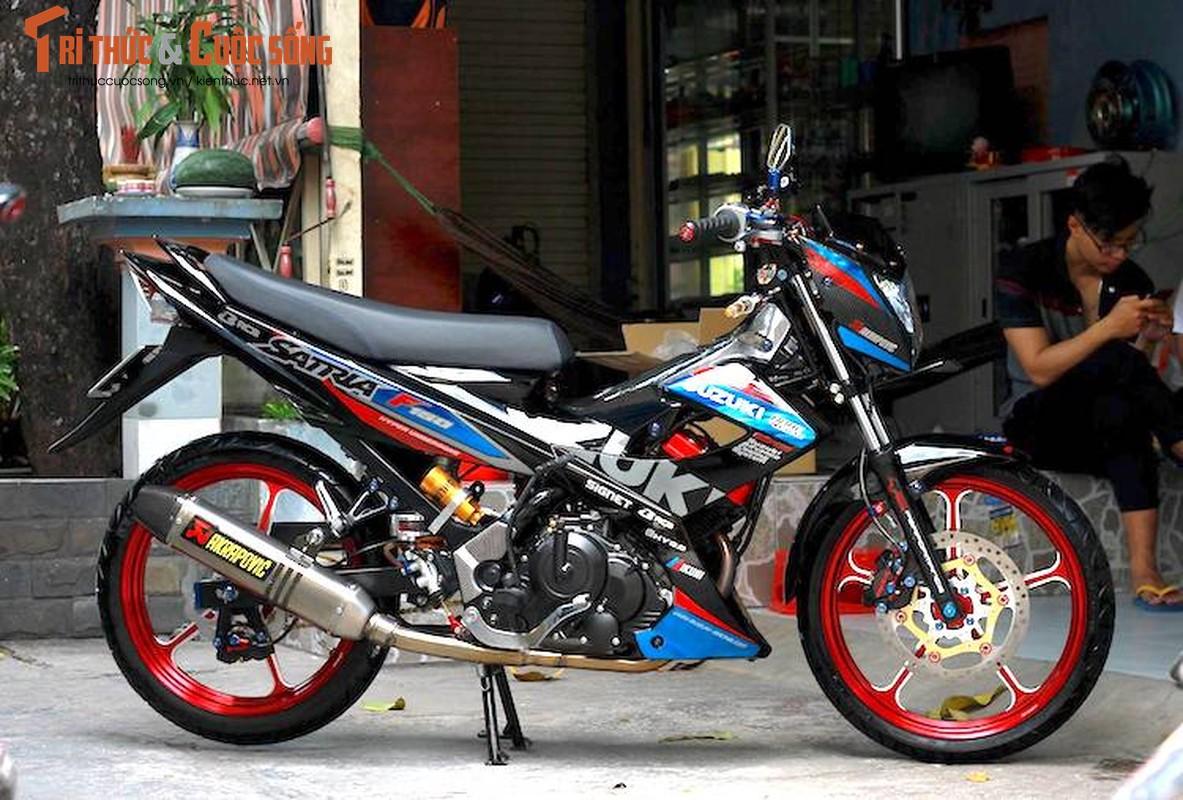 """""""Xe no"""" Suzuki Satria F150 do gan 100 trieu tai Sai Gon"""