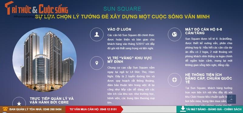 Chuyen gia noi gi ve bat cap o Sun Square cua Do Thi Thang Long?