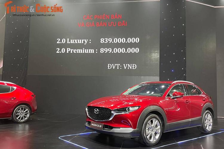 Mazda CX-3 va CX-30, cao nhat 899 trieu dong tai Viet Nam