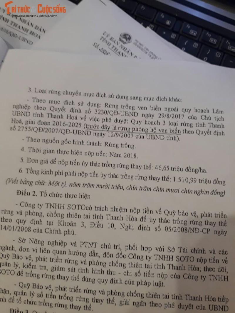 Thanh Hoa xoa rung phong ho de lam du an du lich: Lien tiep nhung van ban kho hieu-Hinh-3