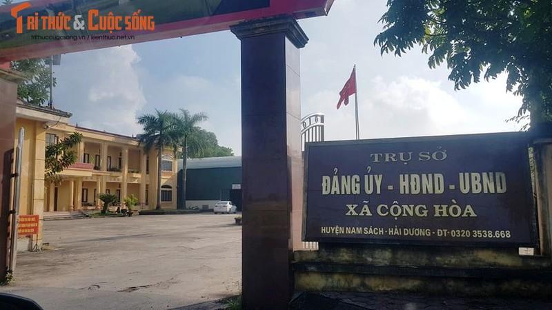 Vu thu phi cap giay di duong o Hai Duong: Chu tich xa Cong Hoa noi gi?