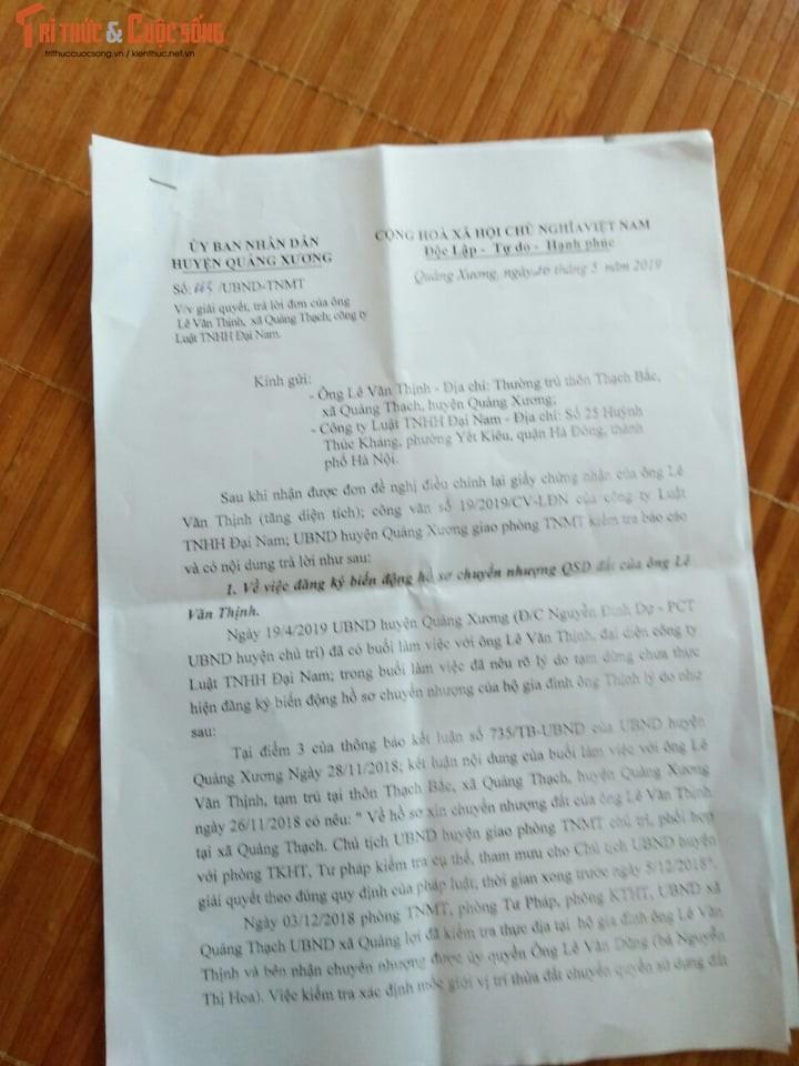 Ban dat nong nghiep tai huyen Quang Xuong, lanh dao thi nhau bi khoi to, dieu chuyen-Hinh-2