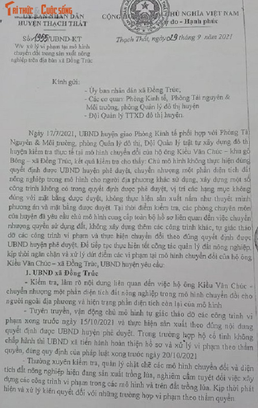Du an nuoi trong thuy san bi bien tuong o Thach That: Loay hoay xu ly?-Hinh-2