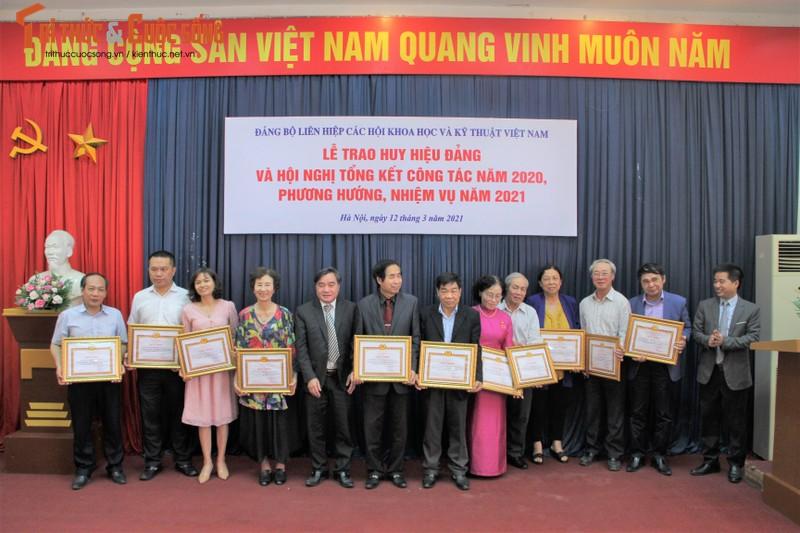 Trao Huy hieu Dang cho cac Dang vien cua Lien hiep Hoi Viet Nam-Hinh-5